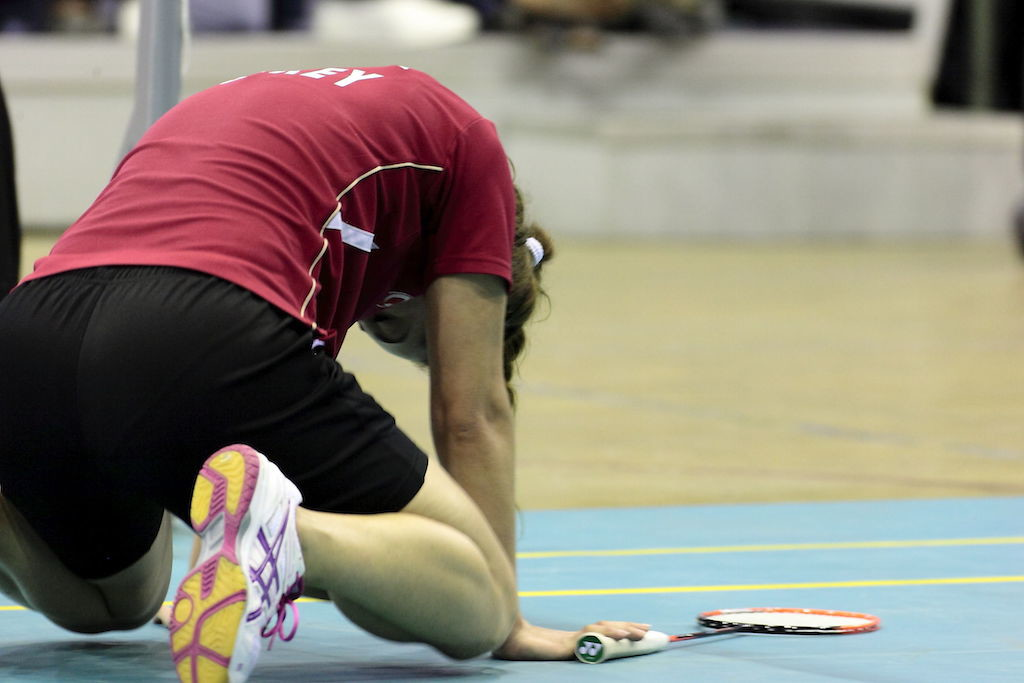 A dejected player after losing point...
