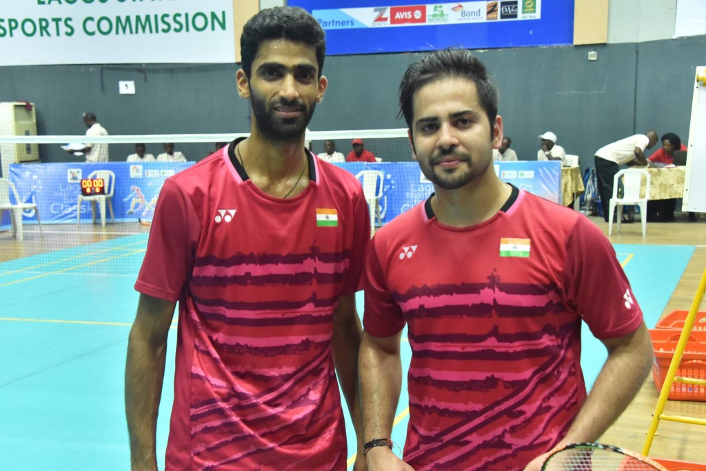 Men's doubles champions-- Reddy and Manu Attri (India)