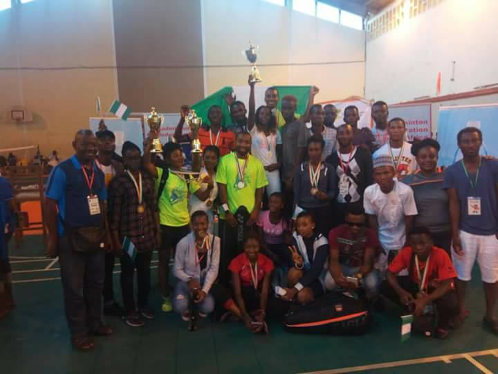 Nigerian contingent: group picture in Ivory Coast