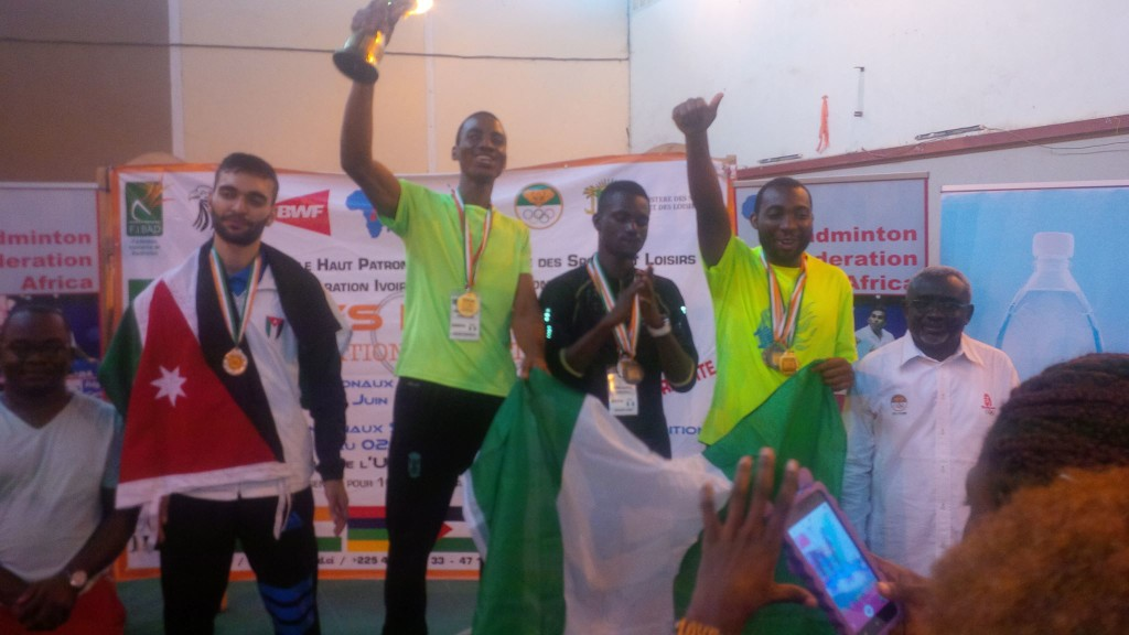 Victorious Nigerian contingent