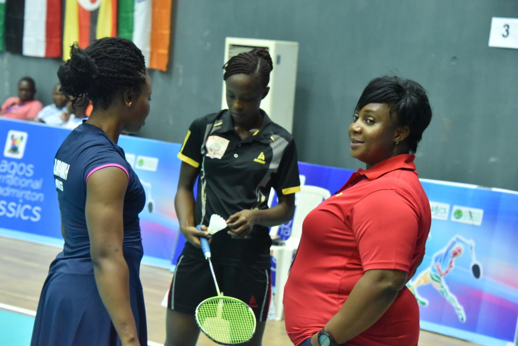 Coach Maria of Lagos speaking to her players