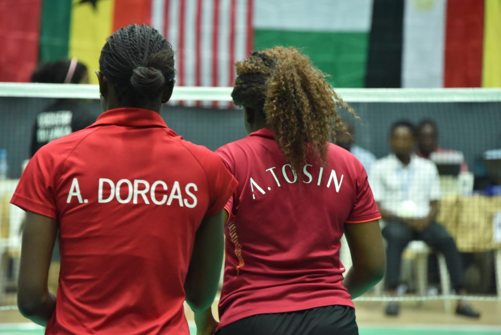 Women doubles: Tosin and Dorcas of Nigeria